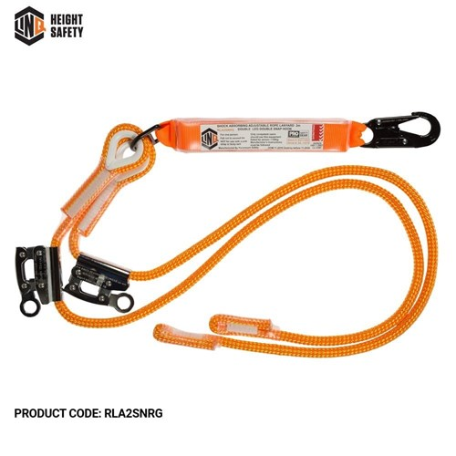 LINQ Double Adjustable Rope Lanyard with SN & RG X2