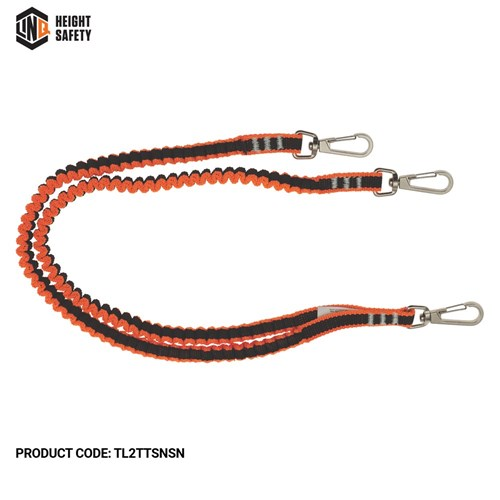Twin Tail Tool Lanyard With 3 X Swivel Snap Hooks